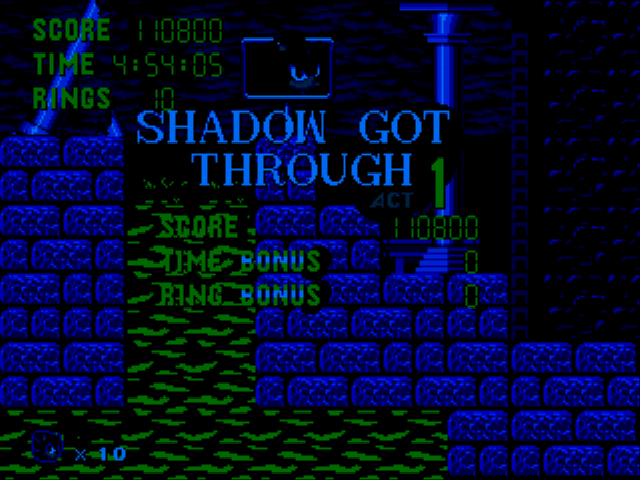 Sonic 1 Megamix (v3.0) - Alright Shadow. - User Screenshot
